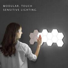 Hexagonal LED Quantum Lamp Modular Touch Night Light DIY Geometry Magnetic Wall