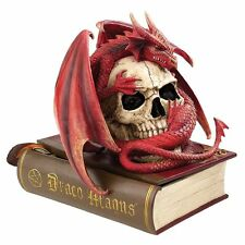 CL76323 Blood Dragon/Skull Contemplation Sculptural Box - Medievil Gothic