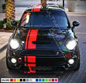 Stripe Kit Sticker Vinyl Decal for Mini Cooper S Hatch Side Mirror Cover JCW F55