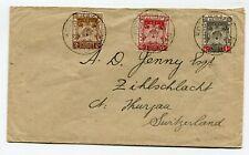 Malaysia Kota Bharu Kelatan cover to Switzerland 30-8-1922
