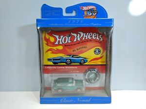 HOT WHEELS- CLASSIC NOMAD-GREEN*1970 COMMEMORATIVE REPLICA WITH COLLECTOR BUTTON