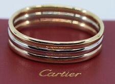 Cartier Trinity 18K Tri Color Gold Vintage Bangle Bracelet