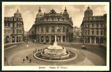 Genova : Piazza De Ferrari -  cartolina viaggiata nel '39 per La Spezia