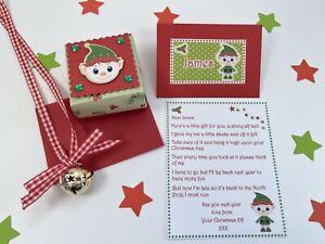 Elf Goodbye Letter, Elf Bell, Personalised, Christmas Eve, Tree Decoration