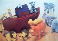 Baby Boys Girls Noahs Ark Animals Toy KNITTING PATTERN DK lion Elephant Giraffe