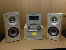 Panasonic SA PM57MD 5 CD Mini Disc Tuner Tape Hi-Fi Mini System w Speakers RARE