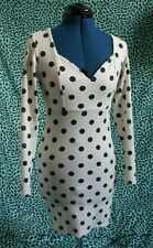 Black & White ASOS Spotted Polka Dot Dress Size UK 4 Petite