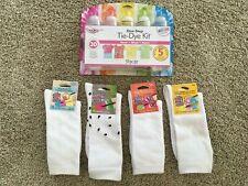 Tulip One-Step Tie Dye Kit Neon & Tulip Crazy Adult Socks BUNDLE.  LOT OF 5 New
