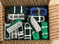 Vintage East German Police Officer Rank Insignia +100 Pair Lot UNISSUED Extras!