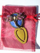Bookmark Gold Purple Blue Metal Crystal Dragonfly Birthday Gifts Him Her Teacher