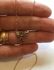 9ct Oro Zafiro Piedra de Belcher Cadena Collar caracteriza Vintage?