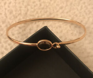 Georg Jensen Savannah Bangle 18K Rose Gold  With Smoky  Quartz Size  Medium