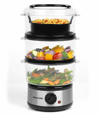 Salter EK2726 Healthy Cooking 3-Tier Food Rice Meat Vegetable Steamer, 7.5 Litre