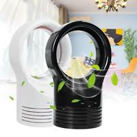 Portable Mini Round Bladeless Fan Air Flow Cooling No Leaf Fan Low db Summer