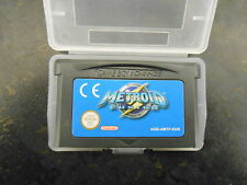 GBA METROID FUSION GBA GAMEBOY ADVANCE NINTENDO GAME BOY AND PROTECTIVE CASE