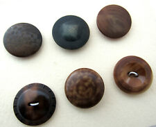 New listing Antique Vintage Carved Vegetable Ivory Sewing Buttons Lot of 6 Carded