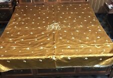 Antique Chinese Hand Embroidery Silk Qing Dynasty Panel Wall Hanging Bed Sheet
