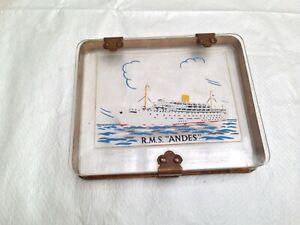 Vintage R.M.S Andes Perspex Souvenir Cigarette Box
