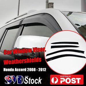 Weathershields Car Sun Rain Wind Window Visors 4PCS For Honda Accord (08 -12) SE