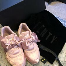 puma fenty trainers Pink Bow Satin Size 7 With Dust Bag 53fa89e24