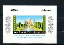 Ajman 1968 Taj Mahal. S/S. Imperf. Mnh . K312
