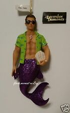 December Diamonds Clam Bake Merman Ornament 2009, New in Collectible Gift Box