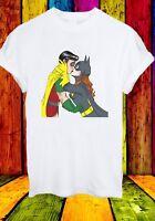 Batwoman Robin Kiss Justice League Sexy Batman Film Men Women Unisex T-shirt 758