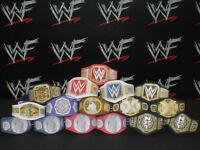16 x Custom WWF WWE NXT Title Belts For Hasbro Mattel Retro Wrestling Figures