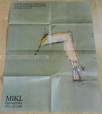 GERMAN EXHIBITION POSTER 1981 - JOSEF MIKL - FIGURE AND COLOUR * ART PRINT