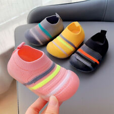 Baby Toddler Infant Kids Boys Girls Soft Flats Walking Sports Breathable Shoes