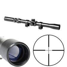 Tactical 3-7X20 Air Gun Rifle Optics Cross Reticle Scope +20mm Mounts +Red Laser