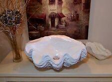 Sculptés giant clam shell lavabo lavabo comptoir