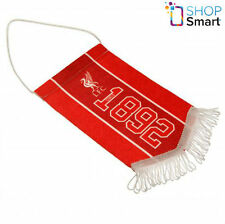 LIVERPOOL FC RED MINI PENNANT HANGING CAR ROOM 1892 OFFICIAL FOOTBALL SOCCER NEW