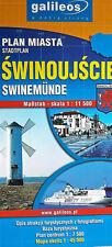 Touristenkarte Misdroy Swinemünde. Sehenswürdigkeiten mit Fotos. Polen.