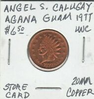 A) Token - Angel S. Calugay - Store Card - 1977 UNC - 20 MM Copper