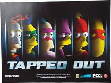 SDCC 2016 EXCLUSIVE THE SIMPSONS Tapped Out Limited Edition #694  Poster 18 x 24