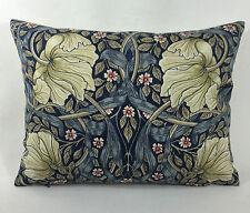William Morris Pimpernel Indigo/Chanvre Housse De Coussin 40.6cmx30.5cm Beau