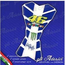 Paraserbatoio Resinato Sticker 3D Valentino Rossi 46 BLU Moto