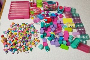 Shopkins BIG Lot of 164 shopkins, storage case and Many Accessories