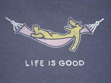 LIFE IS GOOD WOMEN'S S/S ROCKET HAMMOCK CRUSHER T- SHIRT  SIZE M