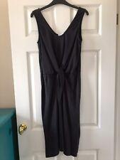 Warehouse Black Tencel Knot Dress Size 10