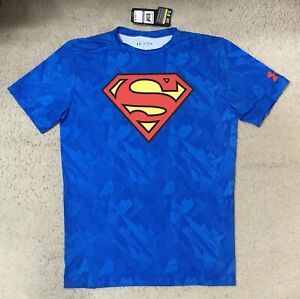 Under Armour Heat Gear Superman Compression Shirt Size 2XL NWT