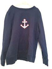 Brooks Brothers Blue Sweatshirt w/Anchor  - Girls Size L 10 - EUC