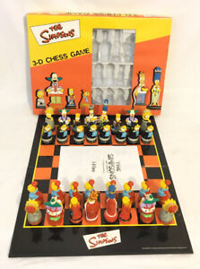 The Simpsons 3D Chess Game 2000 Character Games *100% Complete* Boxed Vintage