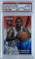 2014 Andrew Wiggins Panini Prizm #251 RED WHITE BLUE Rookie RC PSA 10 - POP 29