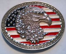 BELT BUCKLE - USA FLAG EAGLE HEAD MENS BELT BUCKLE BB1924 BRAND NEW