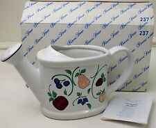 NIB Princess House Watering Can Orchard Medley Ceramic 237 Garden Fruit Plants