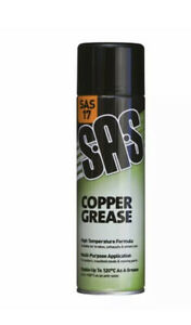 6 x S.A.S Copper Grease Spray High Temp 500ml SAS17 - FREE NEXT DAY DELIVERY