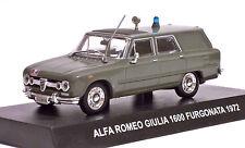 1:43 DIE CAST MODEL ALFA ROMEO GIULIA 1600 FURGONATA CARABINIERI 1972