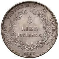 s1026) MILANO - Governo Provvisorio (1848) -  5 Lire 1848